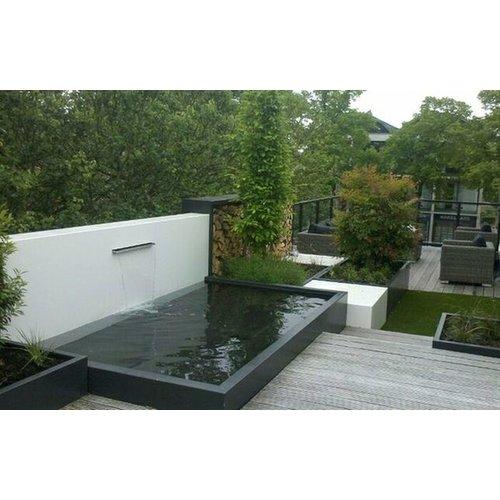Adezz Producten Adezz Vijver Muren (Vast) (Incl. Waterfall 1500 + VP5 Pump) Aluminium Rechthoek 250x25x60cm