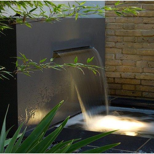 Adezz Producten Adezz Vijver Muren (Vrij) (Incl. Waterfall 3 pipes + VP3 Pump) Aluminium Rechthoek 300x25x120cm