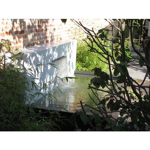 Adezz Producten Adezz Vijver Muren (Vrij) (Incl. Waterfall 600 + VP3 Pump) Aluminium Rechthoek 150x25x100cm