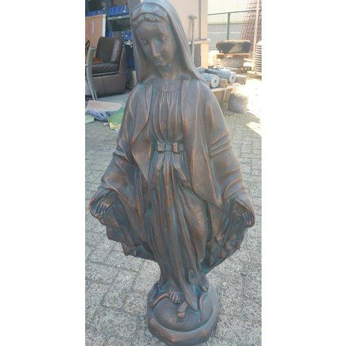 Mariabeeld met gespreide armen 80cm Bronskleur