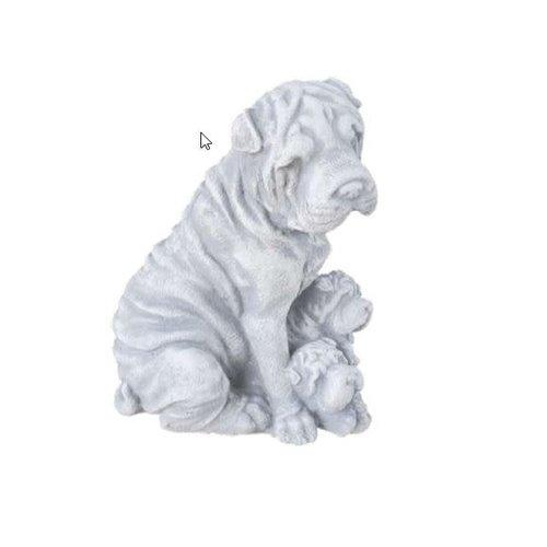 Hondje met pups 21cm