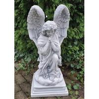 Engel beeld grijs biddend 78cm