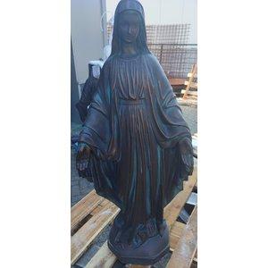 Heilige Maria beeld 113cm bronskleur