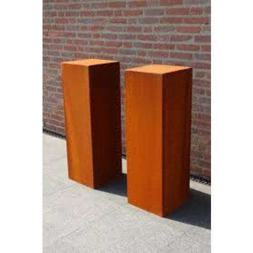 Adezz Producten Adezz Sokkel Cortenstaal Vierkant 50x50x80cm