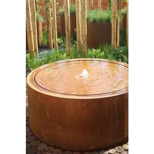 Adezz Producten Adezz Watertafel Cortenstaal Rond 100x75cm