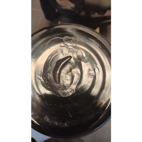 Cameo glasvaas Honing etende Kolibri  45cm