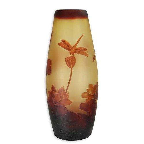 Cameo glasvaas Waterlelies 48cm