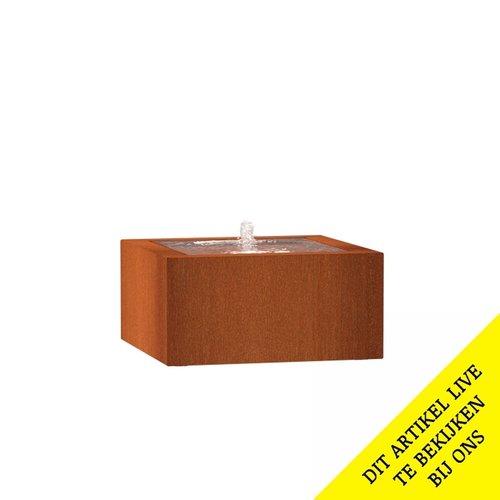 Adezz Producten Adezz Watertafel Cortenstaal Vierkant 80x80x40cm