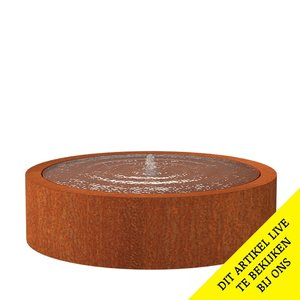 Adezz Producten Adezz Watertafel Cortenstaal Rond 145x40cm