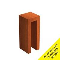 Adezz U-Sokkel Cortenstaal Vierkant 40x40x100cm
