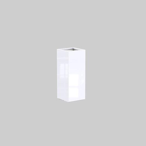 Adezz Producten Plantenbak Polyester Hoogglans Vierkant Buxus 40x40x100cm