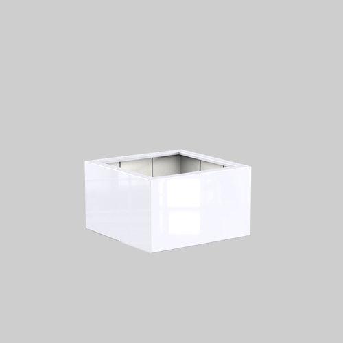 Adezz Producten Plantenbak Polyester Hoogglans Vierkant Buxus 100x100x60cm