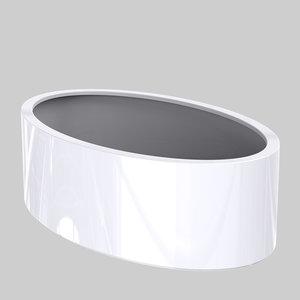 Adezz Producten Plantenbak Polyester Hoogglans Overig Ellipse 200x120x60cm