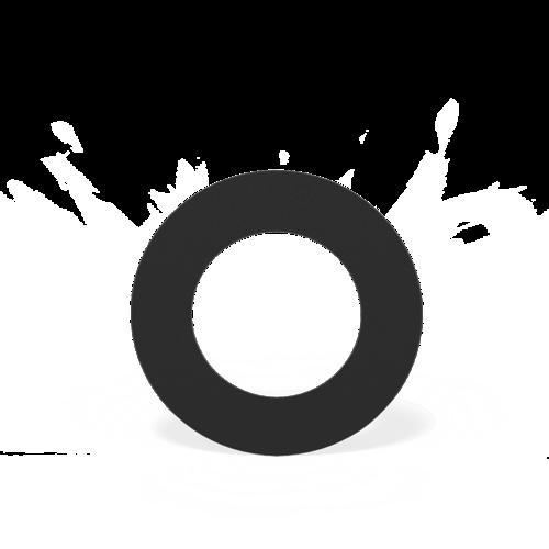 Forno Producten Forno Rookkanaal Rosette Rond Aluminium 2x154x2mm