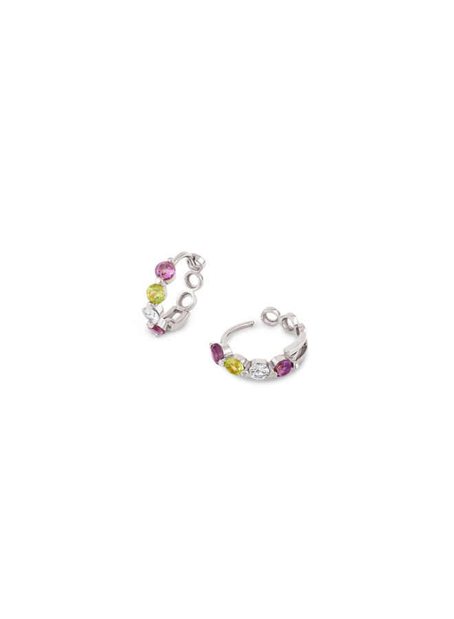 Rainbow hoops - Claire sterling silver