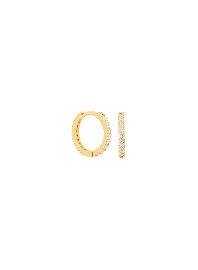 Diamond Hoops - Nini in gold plated sterling silver