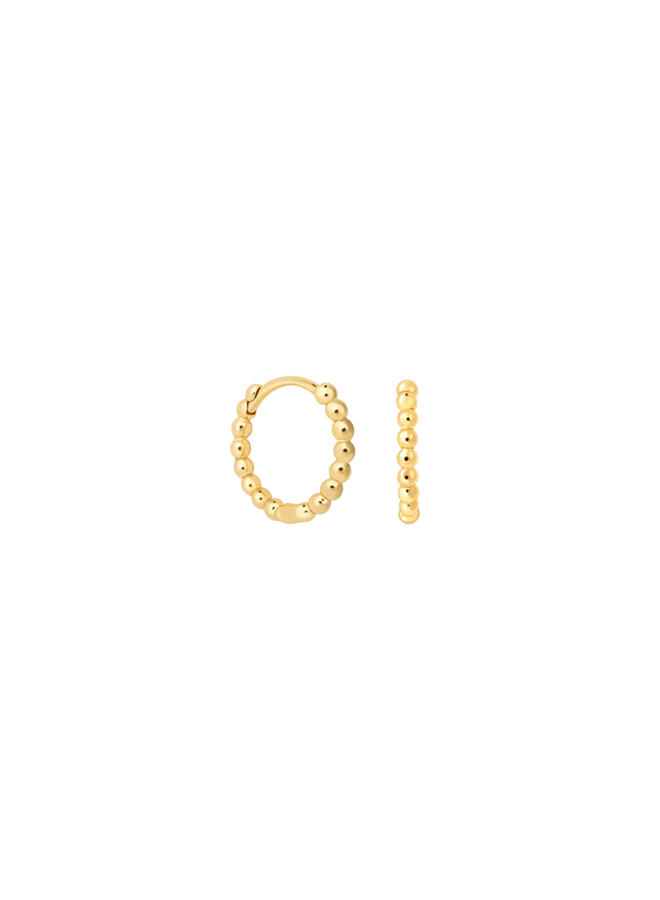 Dot Hoops - Cato in gold plated sterling silver