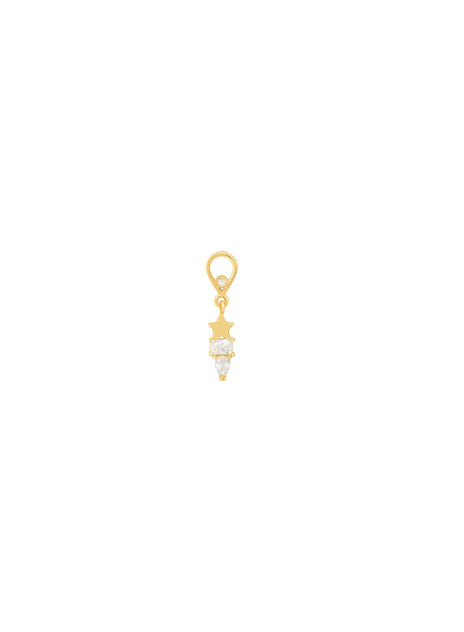 Star pendant - in gold plated sterling silver