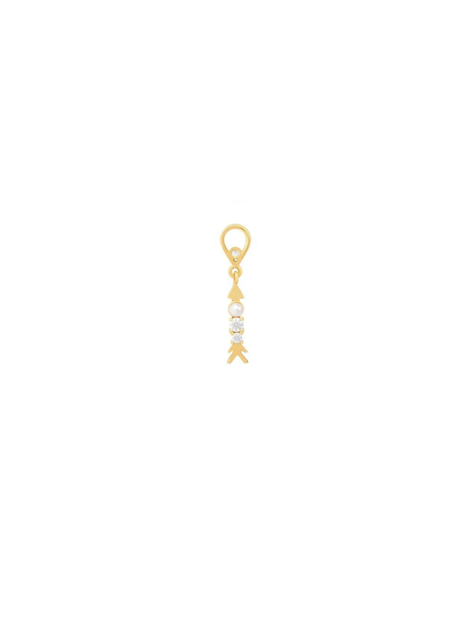 Parel Pendant - in gold plated sterling silver