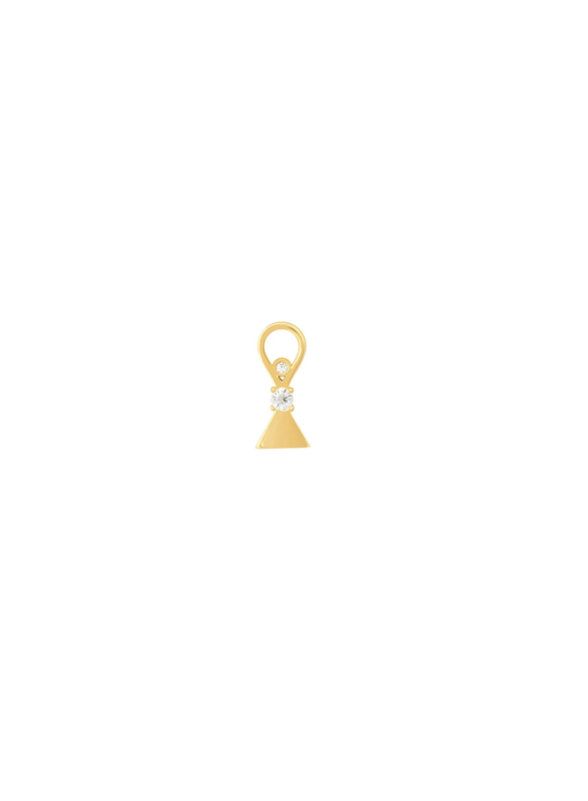 Triangel pendant - in gold plated sterling silver