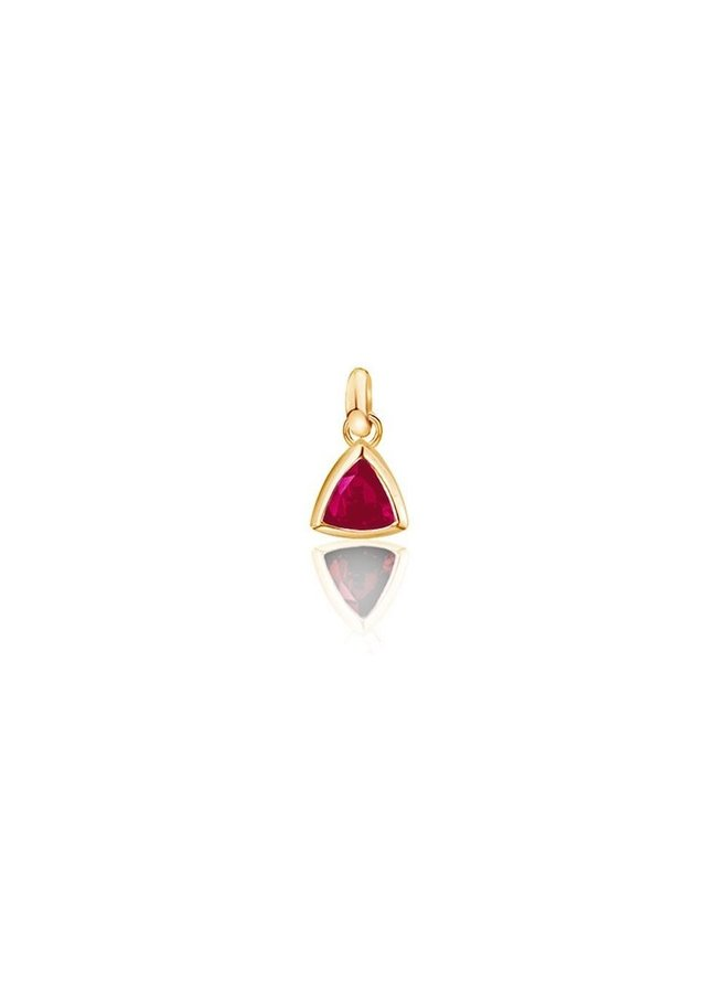 Birthstone pendant Ruby July
