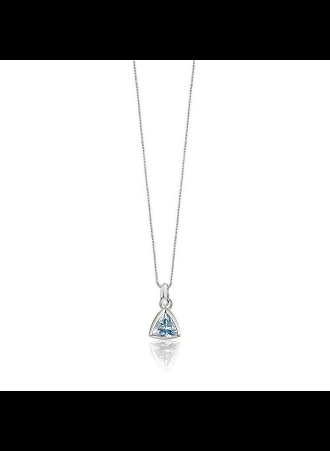 Birthstone pendant Aquamarine March