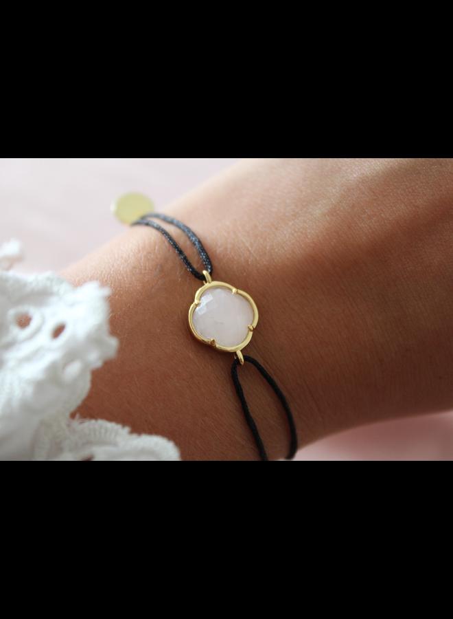 Armband Maansteen Klaver