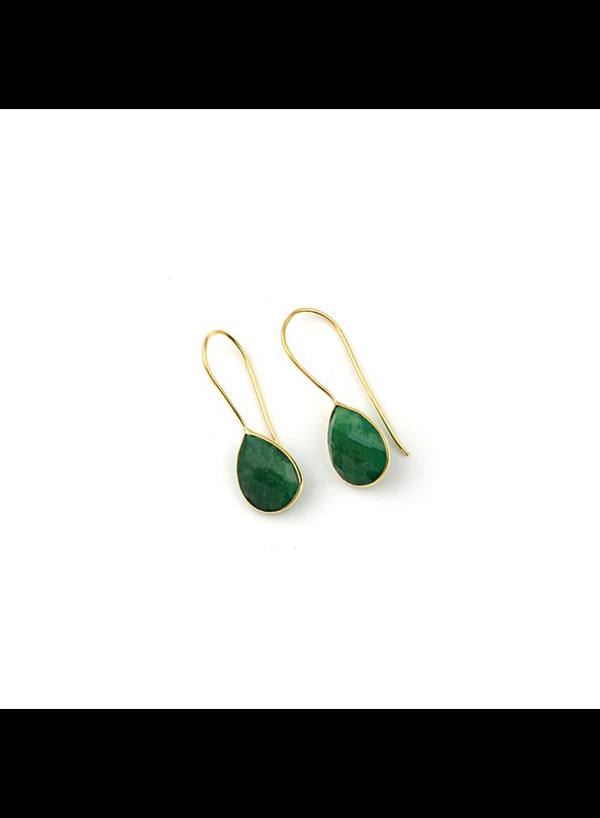 Smaragd Oorbellen Druppel