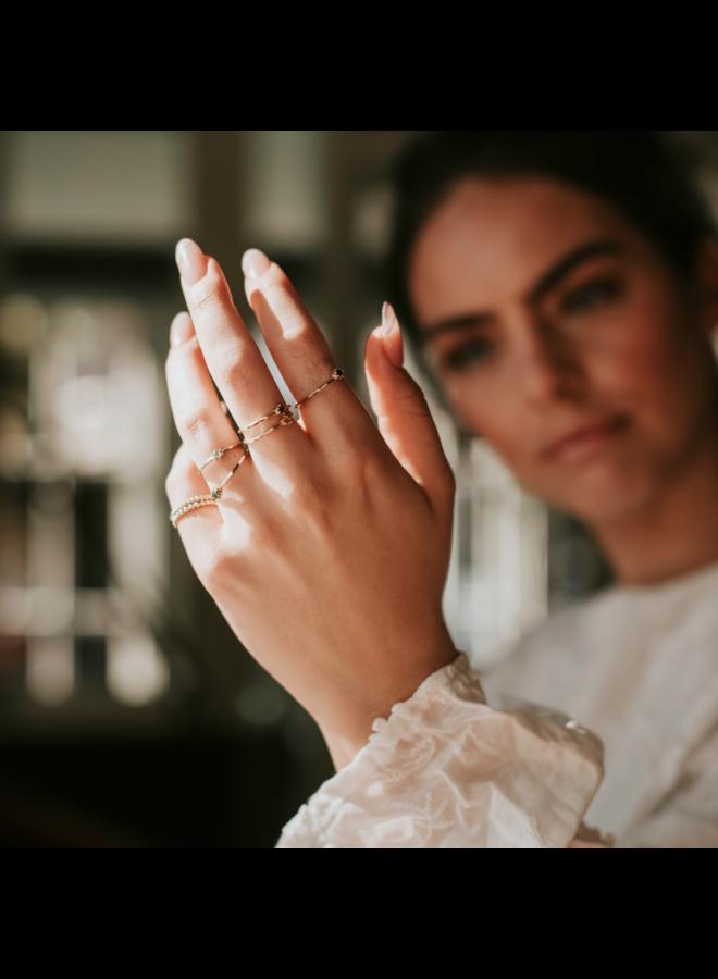 Vintage Hammered Ring Saffier