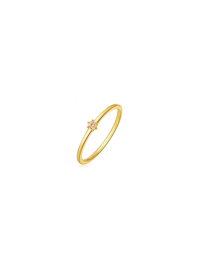 Vintage Hammered Ring Citrien