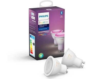 Philips Hue - White and Color Ambiance - GU10 - duopack - Bluetooth