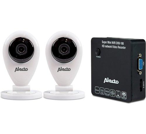 Alecto DVB-100 SET Netwerk Video Recorder met 2 wifi camera's - beelden opslaan en inzien via de app