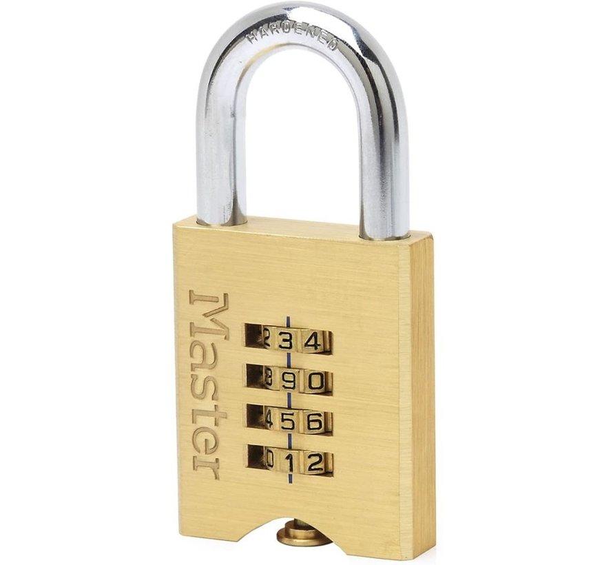 Lock hangslot met combinatie messing 32 x 50 mm