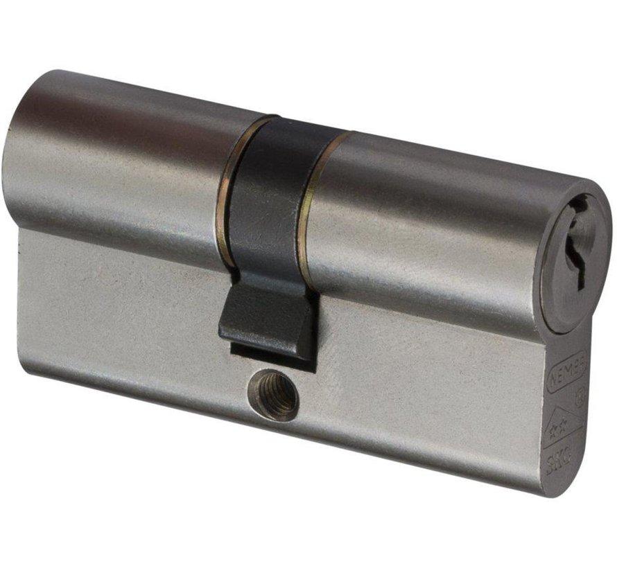 Nemef profielcilinder SKG2 gls 4 st nikkel 1119