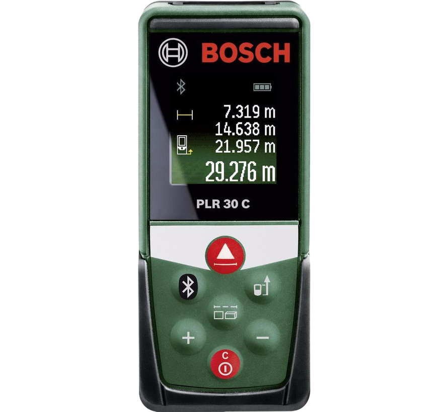 Bosch PLR 30 C Afstandsmeter - Tot 30 meter bereik - Bluetooth - Kleurendisplay
