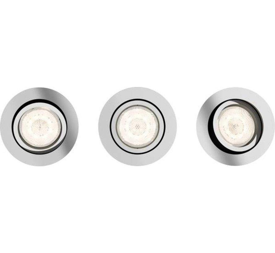 Philips Lighting Shellbark 5020311P0 LED-inbouwlamp Set van 3 stuks 13.5 W