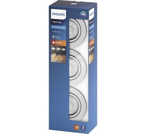 Philips Philips Lighting Shellbark 5020311P0 LED-inbouwlamp Set van 3 stuks 13.5 W