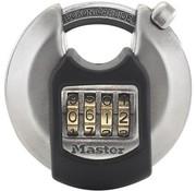 MasterLock hangslot met combinatie roestvrij staal grijs 70 mm
