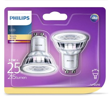 Philips LED-spotlight lampen Classic 3.1 W 215 lumen 2 st
