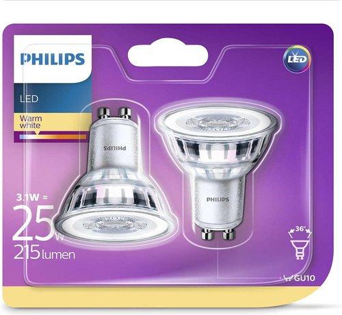 Philips LED-spotlight lampen Classic 3.1 W 215 lumen 2 st