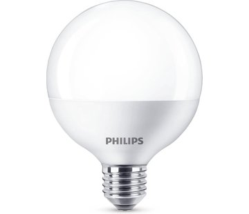 Philips LED Lamp E27 Fitting - 9,5W - 806Lm - Grote Bol - Mat