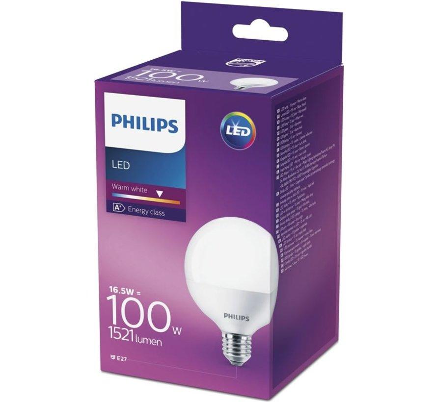 LED lamp E27 16,5W 1521Lm grote bol mat