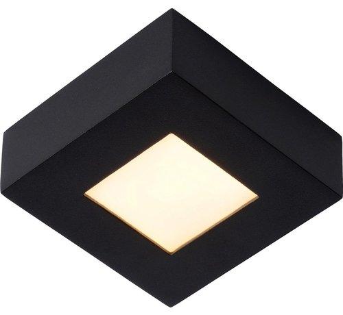 Lucide  BRICE-LED Plafonnière Badkamer - LED Dimb. - 1x8W 3000K - IP44 - Zwart