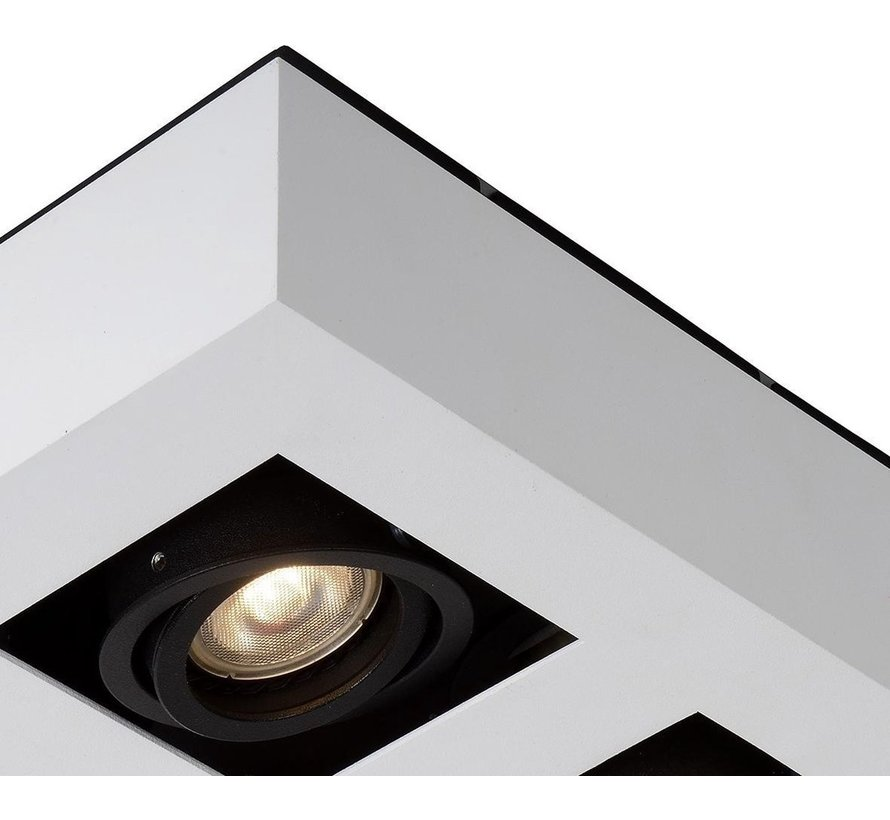 Lucide XIRAX Plafondspot - LED Dim to warm - GU10 - 4x5W 3000K/2200K - Wit