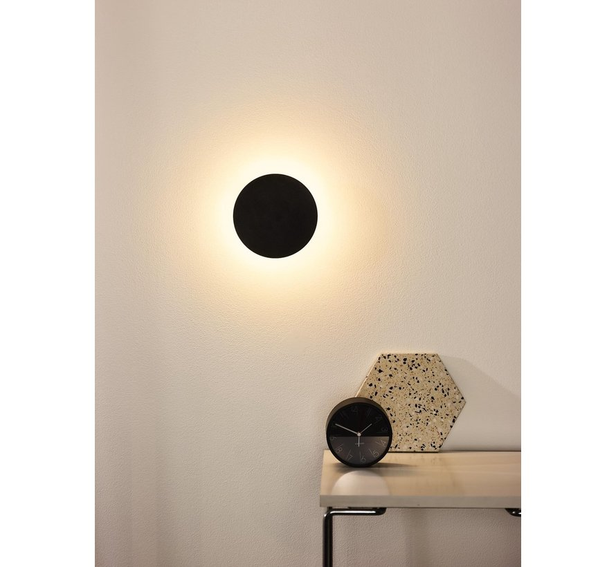 Lucide EKLYPS LED - Wandlamp - Ø 15 cm - LED - 1x6W 3000K - Zwart