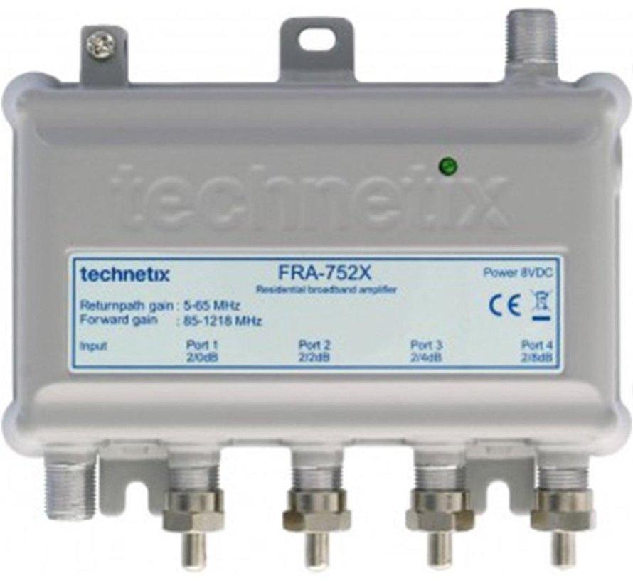 Technetix antenneversterker FRA -752X 4-weg Ziggo geschikt geschikt 1218Mhz