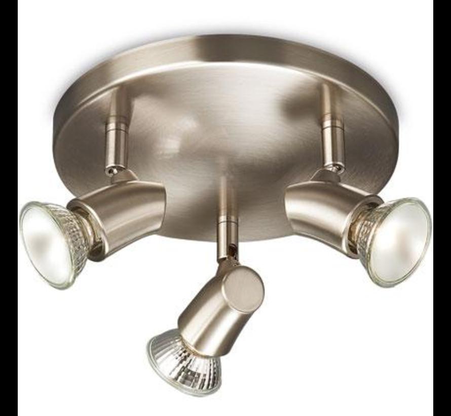 Opbouwspot - Zilver Metaal - Philips Opbouwspot - Kinja Wandlamp