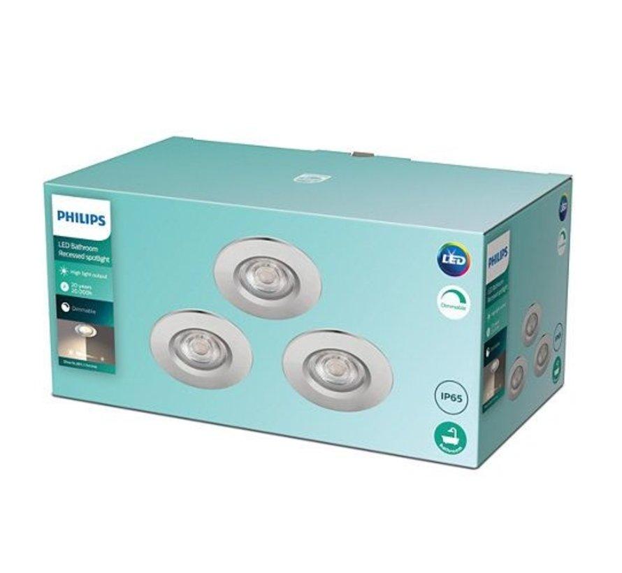 Philips 8718699789657 Inbouwspot Dive SL261 5W Chroom IP65 Warm wit (3 stuks)