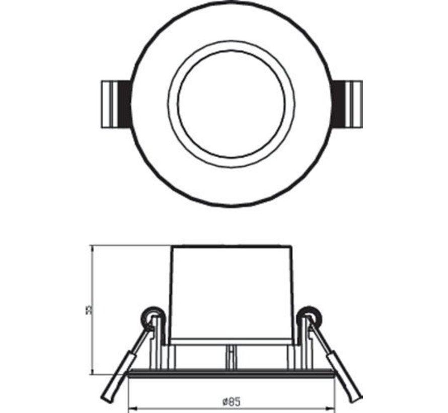 Philips 8718699756079 Inbouwspot Dive SL261 Reflector 5,5W Nikkel IP65 Warm wit (3 stuks)