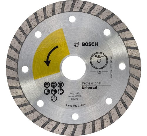 Bosch PROF. DIAMANTSCHIJF UNIVERSAL TURBO TOP , 125MM, 22.23 (1)